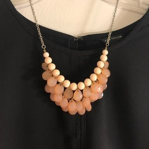 Peach beaded necklace from H&M